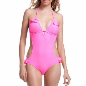 NWT pink OP Monokini suit size M